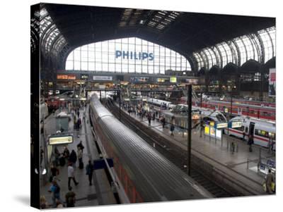 Hamburg Central Train Station, Hamburg, Germany-Yadid Levy-Stretched Canvas Print