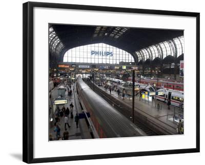 Hamburg Central Train Station, Hamburg, Germany-Yadid Levy-Framed Photographic Print