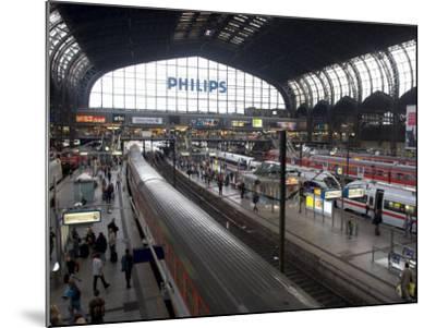 Hamburg Central Train Station, Hamburg, Germany-Yadid Levy-Mounted Photographic Print