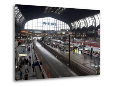Hamburg Central Train Station, Hamburg, Germany-Yadid Levy-Metal Print
