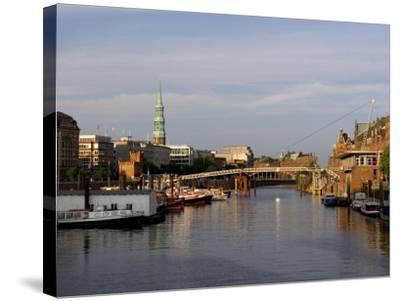 Canal in the Speicherstadt, the Historical Warehouse City of Hamburg, Hamburg, Germany-Yadid Levy-Stretched Canvas Print