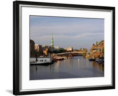 Canal in the Speicherstadt, the Historical Warehouse City of Hamburg, Hamburg, Germany-Yadid Levy-Framed Photographic Print