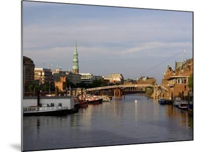Canal in the Speicherstadt, the Historical Warehouse City of Hamburg, Hamburg, Germany-Yadid Levy-Mounted Photographic Print
