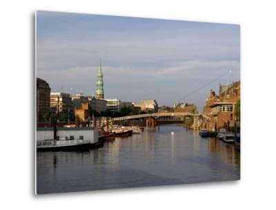 Canal in the Speicherstadt, the Historical Warehouse City of Hamburg, Hamburg, Germany-Yadid Levy-Metal Print