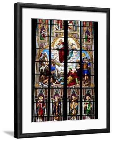 Stained Glass Windows in Cologne Cathedral, Cologne, North Rhine Westphalia, Germany-Yadid Levy-Framed Photographic Print