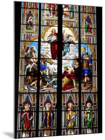 Stained Glass Windows in Cologne Cathedral, Cologne, North Rhine Westphalia, Germany-Yadid Levy-Mounted Photographic Print