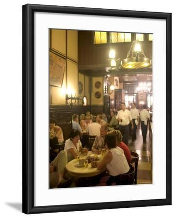 People Sitting Inside the Fruh Am Dom Beer Hall in the Altstadt, Cologne, North Rhine Westphalia-Yadid Levy-Framed Photographic Print