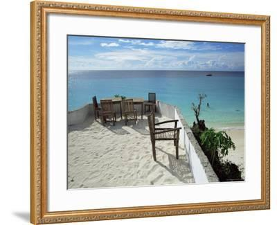 Balcony Overlooking Indian Ocean, Nungwi Beach, Island of Zanzibar, Tanzania, East Africa, Africa-Yadid Levy-Framed Photographic Print