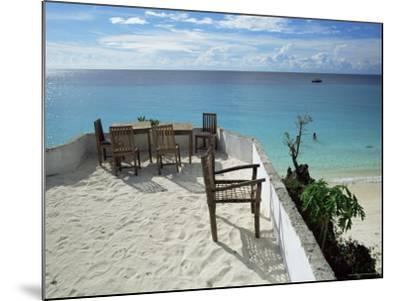 Balcony Overlooking Indian Ocean, Nungwi Beach, Island of Zanzibar, Tanzania, East Africa, Africa-Yadid Levy-Mounted Photographic Print