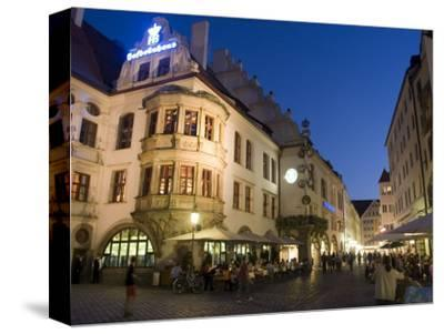 Hofbrauhaus Restaurant at Platzl Square, Munich's Most Famous Beer Hall, Munich, Bavaria, Germany-Yadid Levy-Stretched Canvas Print