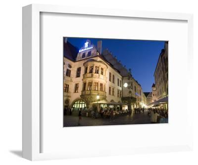 Hofbrauhaus Restaurant at Platzl Square, Munich's Most Famous Beer Hall, Munich, Bavaria, Germany-Yadid Levy-Framed Photographic Print