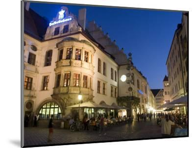 Hofbrauhaus Restaurant at Platzl Square, Munich's Most Famous Beer Hall, Munich, Bavaria, Germany-Yadid Levy-Mounted Photographic Print