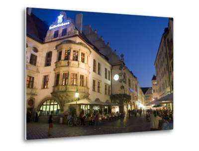 Hofbrauhaus Restaurant at Platzl Square, Munich's Most Famous Beer Hall, Munich, Bavaria, Germany-Yadid Levy-Metal Print