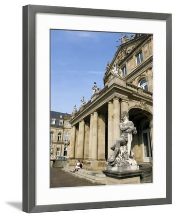 Neues Schloss and Schlossplatz (Palace Square), Stuttgart, Baden Wurttemberg, Germany-Yadid Levy-Framed Photographic Print