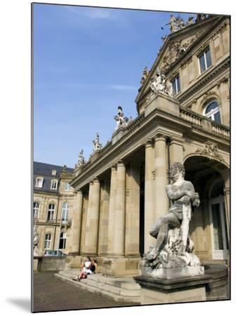 Neues Schloss and Schlossplatz (Palace Square), Stuttgart, Baden Wurttemberg, Germany-Yadid Levy-Mounted Photographic Print