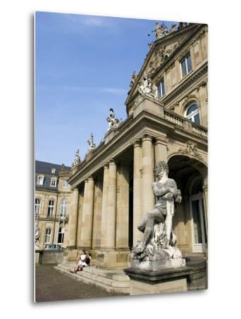 Neues Schloss and Schlossplatz (Palace Square), Stuttgart, Baden Wurttemberg, Germany-Yadid Levy-Metal Print