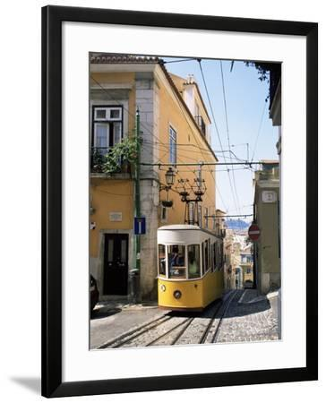 Funicular at Elevador Da Bica, Lisbon, Portugal-Yadid Levy-Framed Photographic Print
