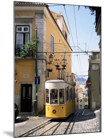 Funicular at Elevador Da Bica, Lisbon, Portugal-Yadid Levy-Mounted Photographic Print