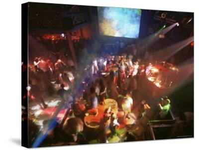 Young People Dance in the Hollywood Night Club, at the Stalin Cinema, Tallinn, Estonia-Yadid Levy-Stretched Canvas Print