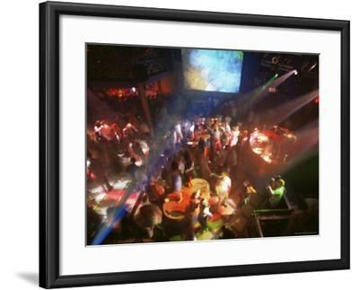 Young People Dance in the Hollywood Night Club, at the Stalin Cinema, Tallinn, Estonia-Yadid Levy-Framed Photographic Print