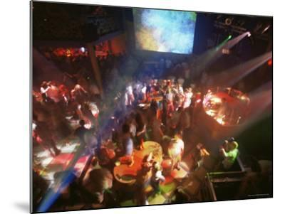 Young People Dance in the Hollywood Night Club, at the Stalin Cinema, Tallinn, Estonia-Yadid Levy-Mounted Photographic Print