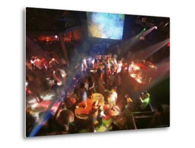 Young People Dance in the Hollywood Night Club, at the Stalin Cinema, Tallinn, Estonia-Yadid Levy-Metal Print