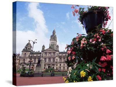 Town Hall, George Square, Glasgow, Scotland, United Kingdom-Yadid Levy-Stretched Canvas Print