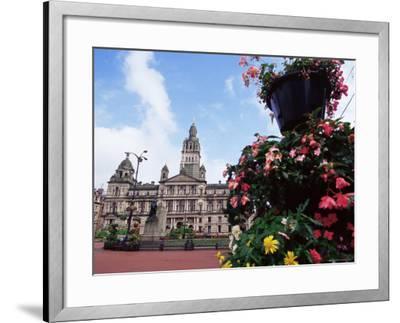 Town Hall, George Square, Glasgow, Scotland, United Kingdom-Yadid Levy-Framed Photographic Print