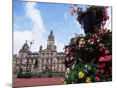 Town Hall, George Square, Glasgow, Scotland, United Kingdom-Yadid Levy-Mounted Photographic Print