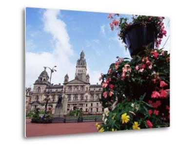 Town Hall, George Square, Glasgow, Scotland, United Kingdom-Yadid Levy-Metal Print