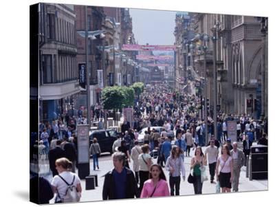 People Walking on Buchanan Street, Glasgow, Scotland, United Kingdom-Yadid Levy-Stretched Canvas Print