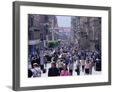 People Walking on Buchanan Street, Glasgow, Scotland, United Kingdom-Yadid Levy-Framed Photographic Print