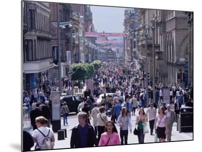People Walking on Buchanan Street, Glasgow, Scotland, United Kingdom-Yadid Levy-Mounted Photographic Print