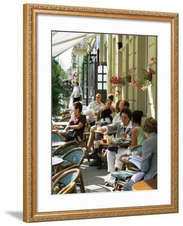 Cafe at Gedimino Pospektas, the Main Street of the Modern City, Vilnius, Lithuania-Yadid Levy-Framed Photographic Print