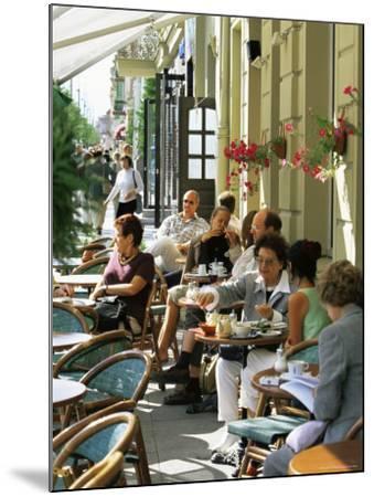 Cafe at Gedimino Pospektas, the Main Street of the Modern City, Vilnius, Lithuania-Yadid Levy-Mounted Photographic Print