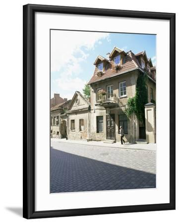 House at the Republic of Uzupis, the Bohemian Heart of the City, Vilnius, Lithuania-Yadid Levy-Framed Photographic Print