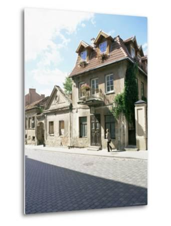 House at the Republic of Uzupis, the Bohemian Heart of the City, Vilnius, Lithuania-Yadid Levy-Metal Print