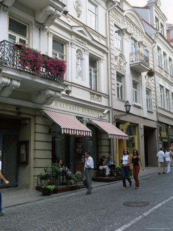 Didzioji Gatve (Main Street), Old City, Vilnius, Lithuania, Baltic States-Yadid Levy-Framed Photographic Print
