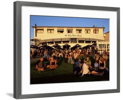 Young People Watching the Sunset in Bloubergstrand, Cape Town, South Africa, Africa-Yadid Levy-Framed Photographic Print