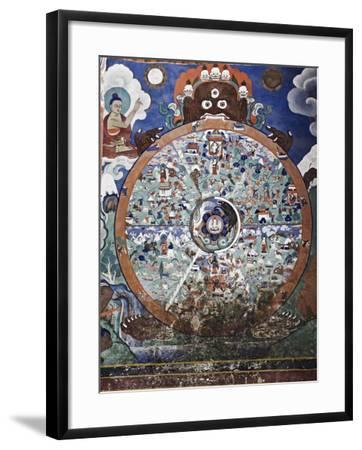 Wheel of Life Wall Art, Hemis Gompa (Monastery), Hemis, Ladakh, Indian Himalaya, India-Jochen Schlenker-Framed Photographic Print