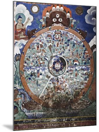 Wheel of Life Wall Art, Hemis Gompa (Monastery), Hemis, Ladakh, Indian Himalaya, India-Jochen Schlenker-Mounted Photographic Print