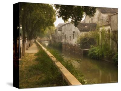 Canal and Houses, Souzhou (Suzhou), China-Jochen Schlenker-Stretched Canvas Print