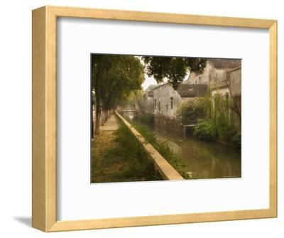 Canal and Houses, Souzhou (Suzhou), China-Jochen Schlenker-Framed Photographic Print