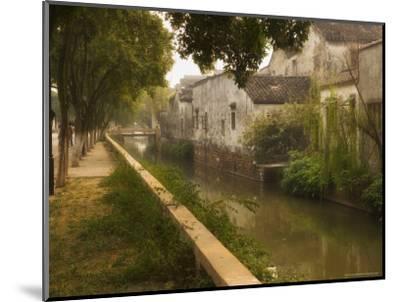 Canal and Houses, Souzhou (Suzhou), China-Jochen Schlenker-Mounted Photographic Print