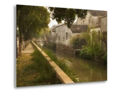 Canal and Houses, Souzhou (Suzhou), China-Jochen Schlenker-Metal Print