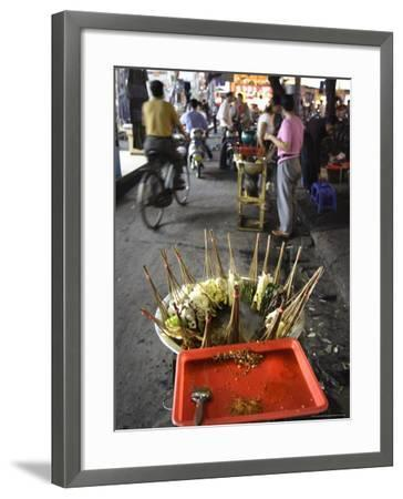 Skewers Cook in a Sichuanese Hotpot, Chengdu, China-Andrew Mcconnell-Framed Photographic Print