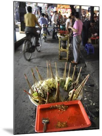 Skewers Cook in a Sichuanese Hotpot, Chengdu, China-Andrew Mcconnell-Mounted Photographic Print
