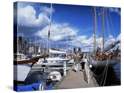 Constitution Day on May 17th, at Aker Brygge, Oslo, Norway, Scandinavia-Kim Hart-Stretched Canvas Print