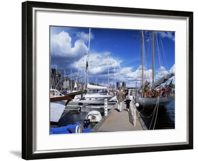 Constitution Day on May 17th, at Aker Brygge, Oslo, Norway, Scandinavia-Kim Hart-Framed Photographic Print