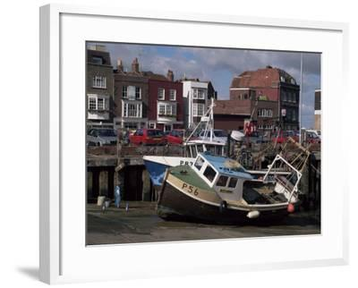 Fishing Boats, Portsmouth Harbour, Portsmouth, Hampshire, England, United Kingdom-Robert Francis-Framed Photographic Print